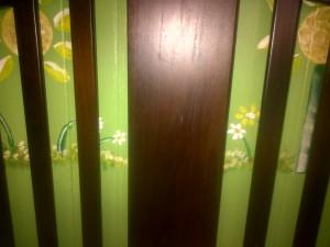 Through the crib