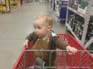Shopping at Lowe's