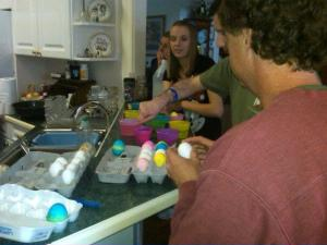 Family egg dying